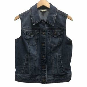 Style & Co Women's Medium Button Front Denim Vest